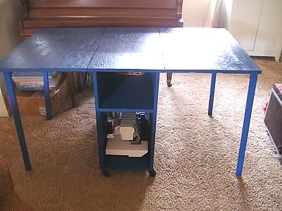 Collapsible Sewing Table For Small Spaces Diy Sewing Table Sewing Room Inspiration Sewing Table