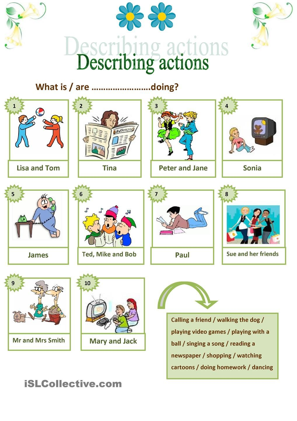 Describing Actions Conversation Cards Learn Swedish Continuity [ 1440 x 1018 Pixel ]