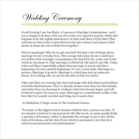 Ten Features Of Simple Civil Wedding Ceremony Script That