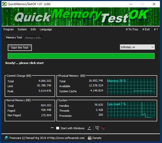 Quickmemorytestok V1 01 64bit Small Free Program To Check Ram