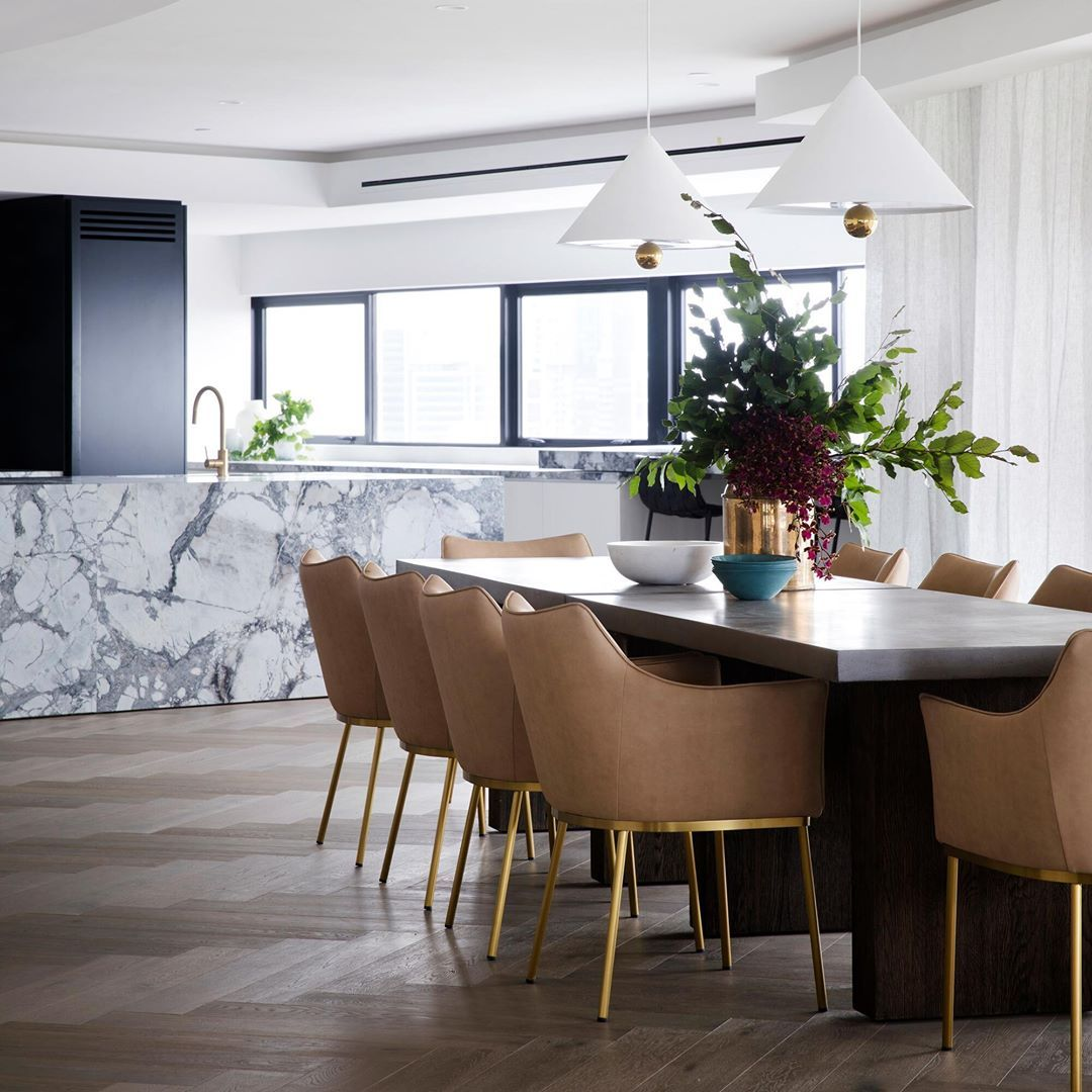 Coco Republic On Instagram A Deftly Crafted Mix Of Rich Wood And Concrete The Abbott Concre Concrete Dining Table Dining Room Style Scandinavian Dining Room