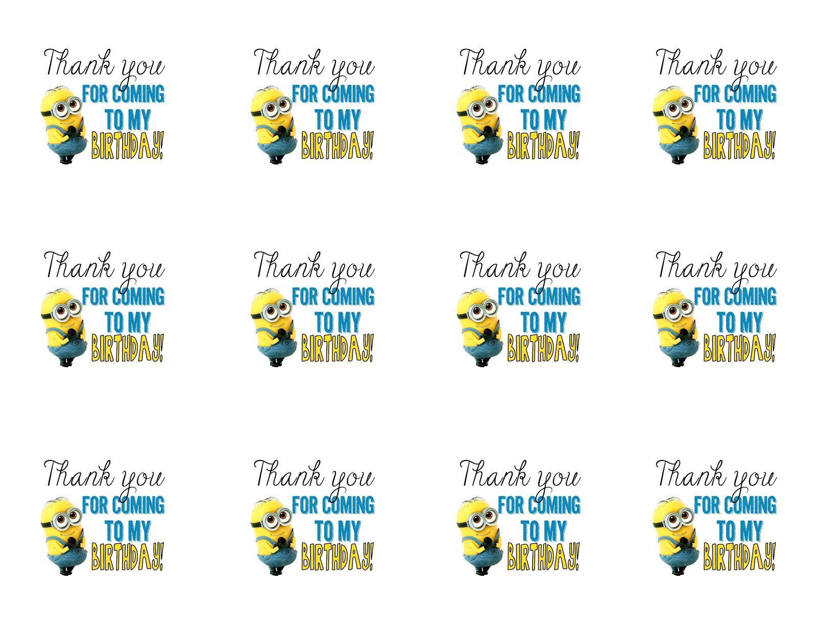 DIY Design Den Minion birthday party with free printables