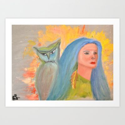 the protector Art Print by Brandy Lynn Art - $24.96