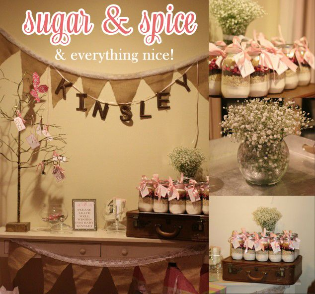 Sugar and spice baby shower ideas