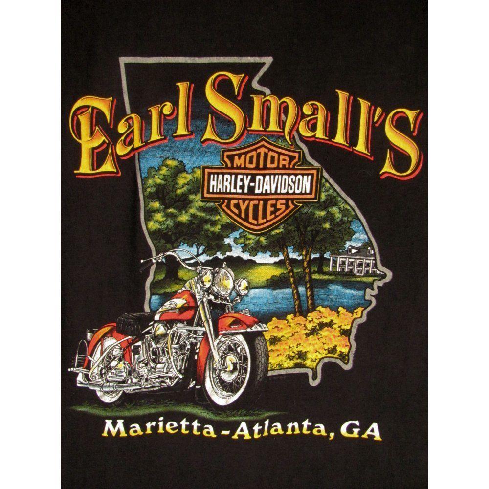Atlanta Harley Davidson >> Harley Davidson Shirt Xl Black Earl Smalls Atlanta Ga