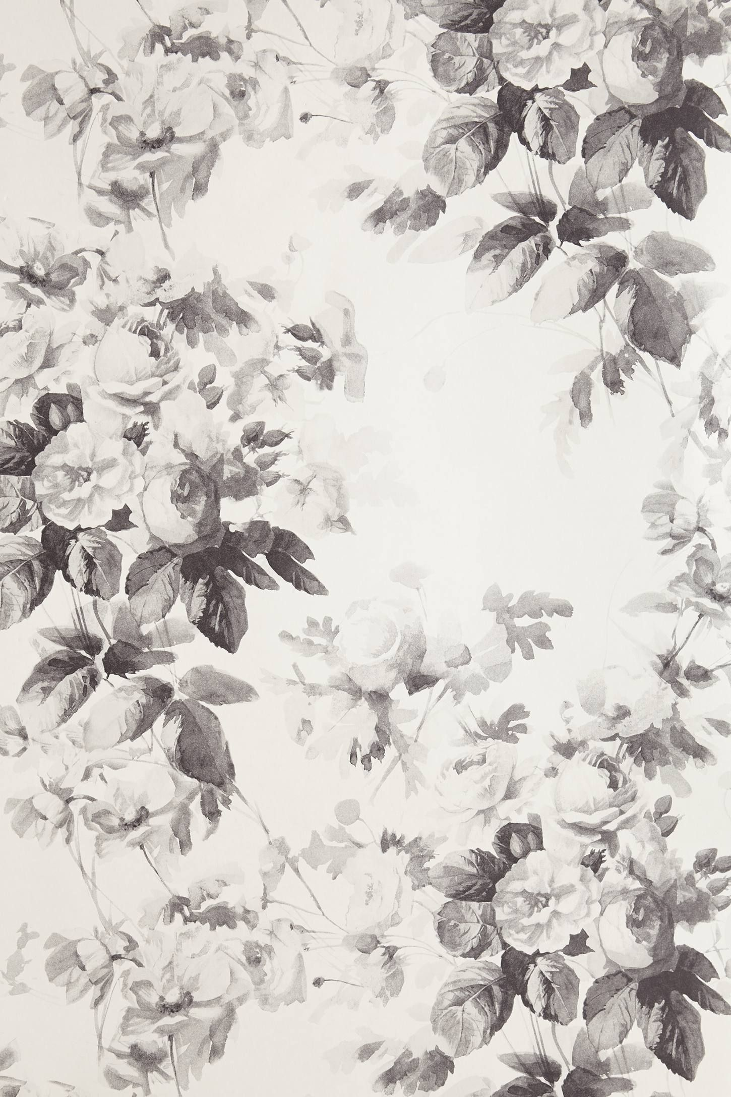 black/white/gray Smoky Rose Wallpaper - http://bit.ly/ZxnW1M