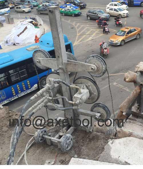 hydraulic wire saw concrete cutting project, www.axetool.com ...