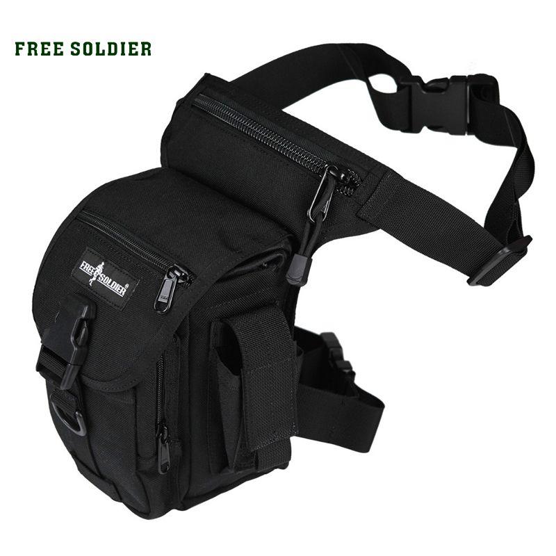 Men Nylon Sport Black Climbing Sport Outdoor Leg Waist Bag