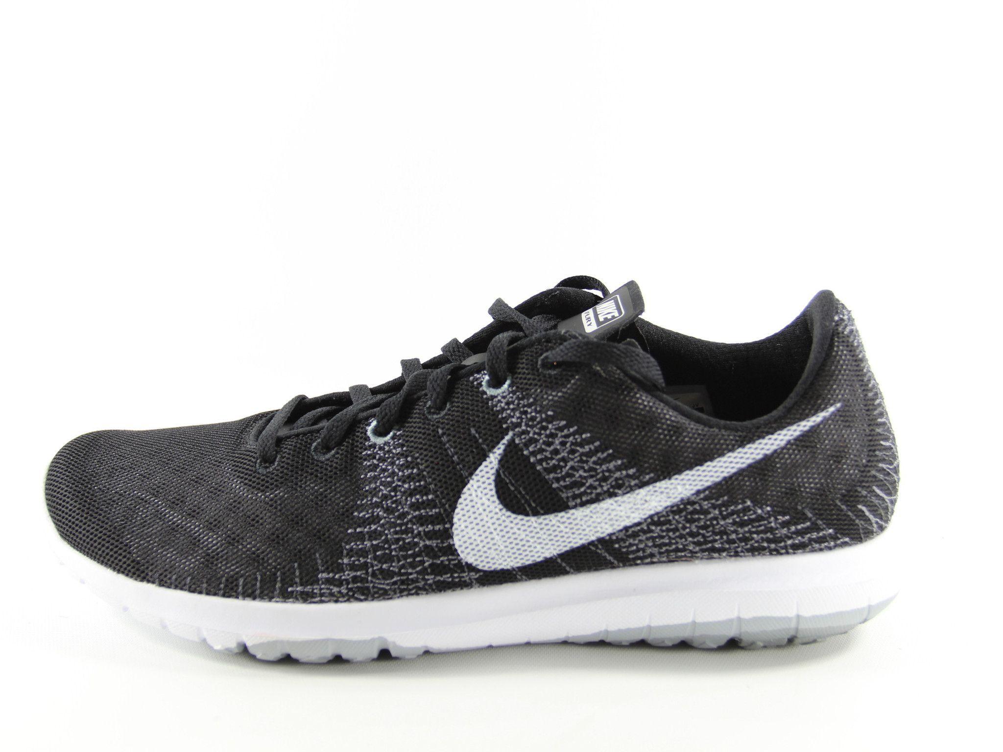 da2ddfb9b40a NIKE Flex Fury Fitsole Running Shoes Size 9 (Black White Wolf Grey ...