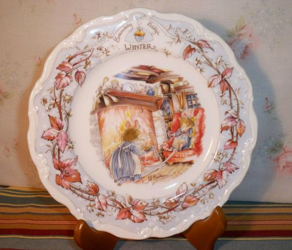 Royal Doulton Winter Brambly Hedge Collector Plate by GreenDoorSalvers $20.00 & Royal Doulton Winter Brambly Hedge Collector Plate by ...