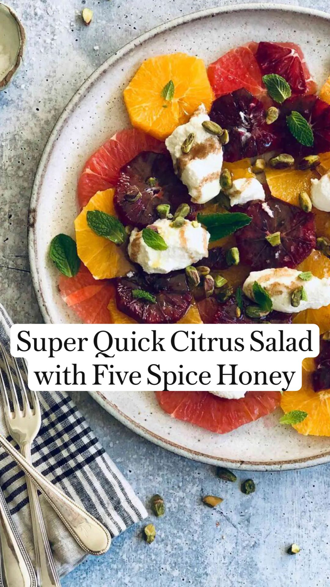 Peter Som's Citrus Salad with Five Spice Honey