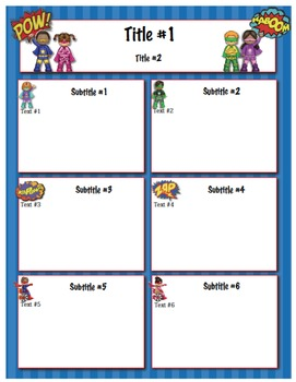 Superheroes Classroom Newsletter Template  Newsletter Templates