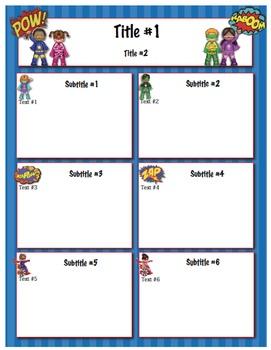 Superheroes Classroom Newsletter Template  Newsletter Templates