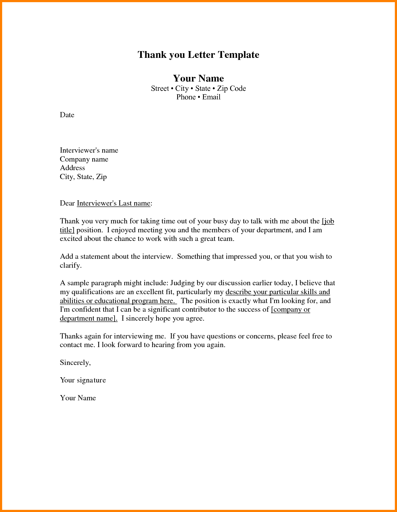 Professional Thank You Letter Template Scholarship Letters