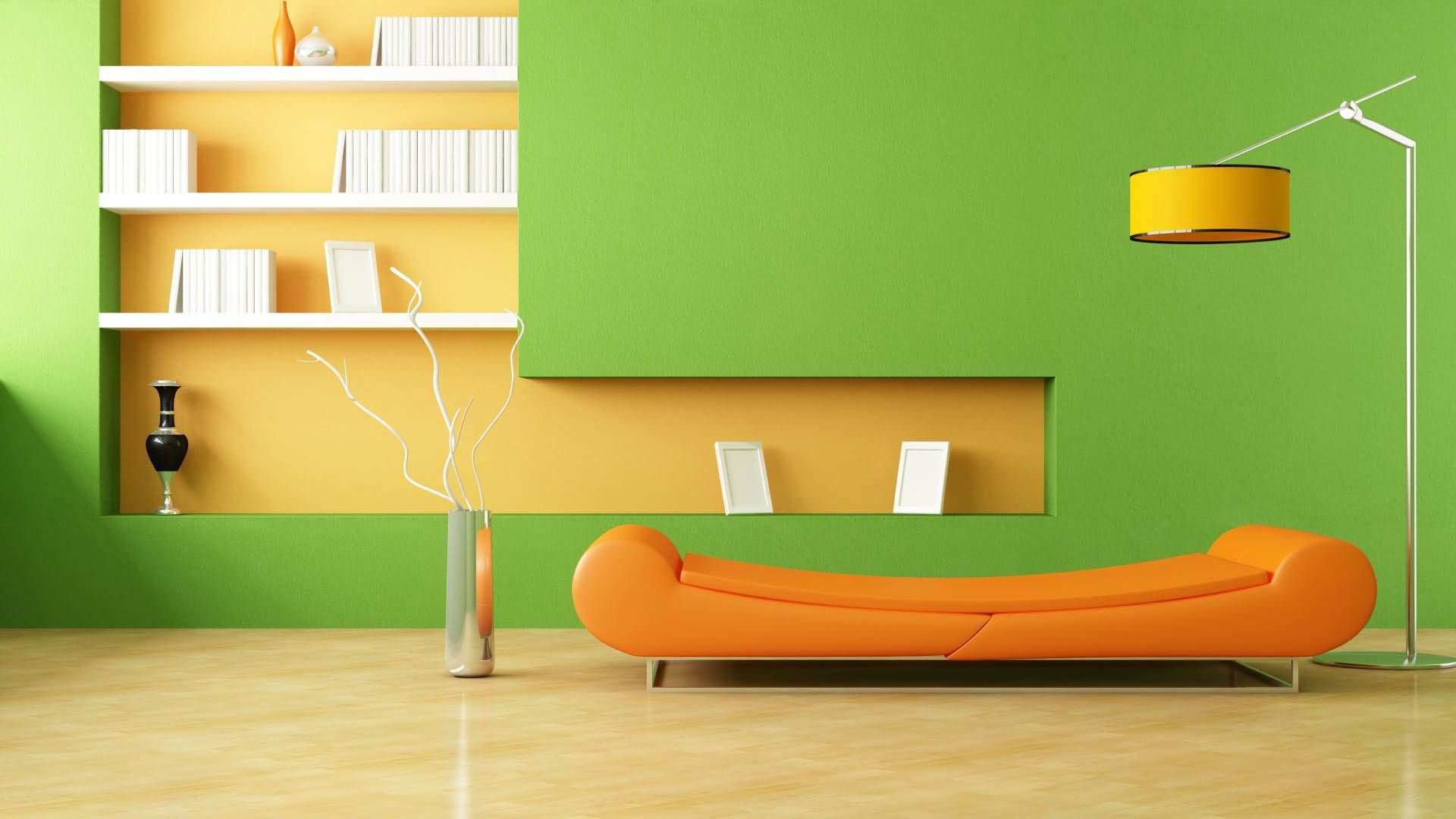 Green-Wall-And-Orange-Sofa-Interior-Picture1.jpg (1920×1080 ...