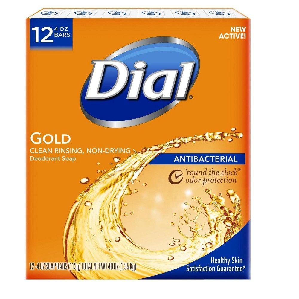 Dial Antibacterial Deodorant Gold Bar Soap 4oz 12pk Dial Soap
