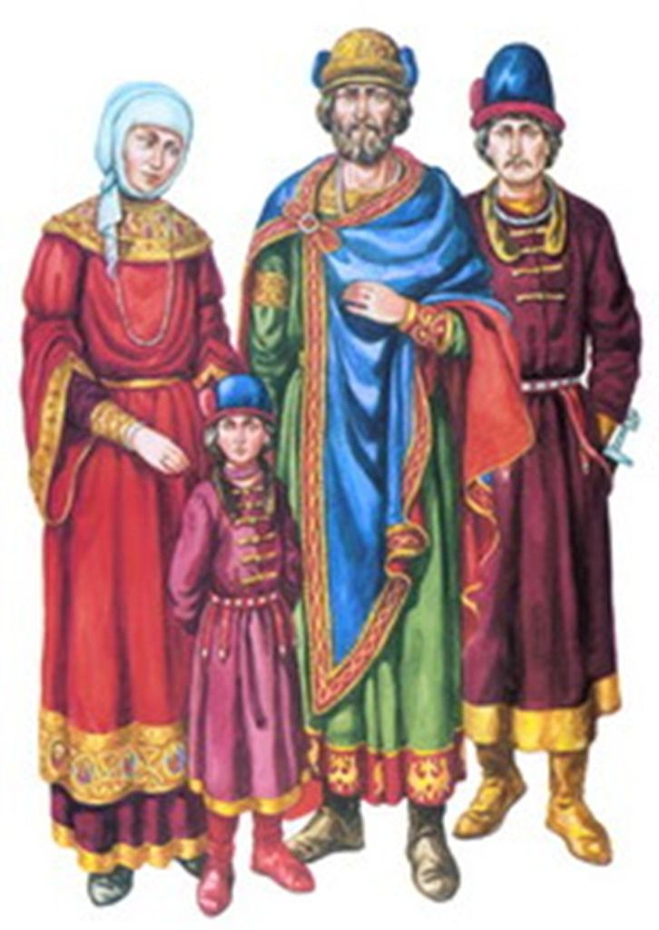 Slavic Costumes (Kievan. From Z. Vasina's Chronicle of Ukrainian Costume, V1)