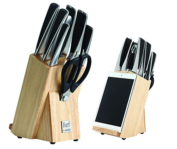 Amazon Com Lief Svein German Steel Knife Block Set 9 Piece