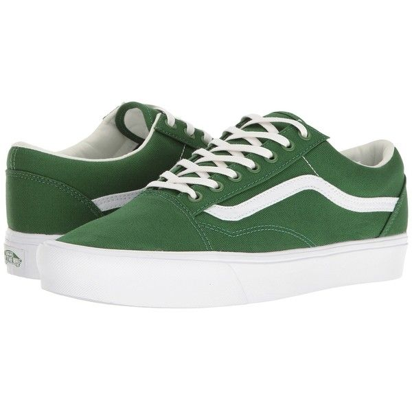 92804291da8 Vans Old Skool Lite ((Canvas) Juniper True White) Skate Shoes (£46) ❤ liked  on Polyvore featuring shoes