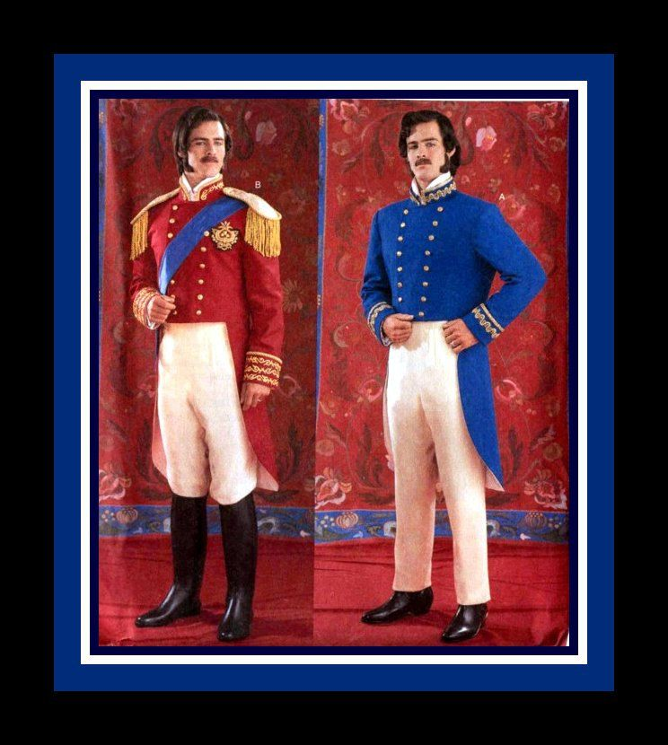 19th CENTURY MILITARY UNIFORM-Historical Sewing Pattern-Two
