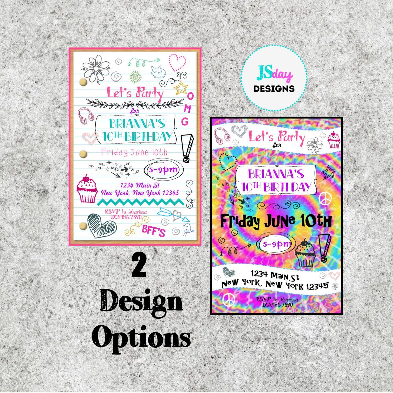 Teen Birthday Ideas Tween Birthday Ideas Teen Birthday Invite ...