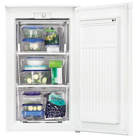 Buy Zanussi Zfg06400wa Freezer A Energy Rating 50cm Wide White Online At Johnlewis Com Undercounter Freezer Kitchen Utensils Store Small Fridges
