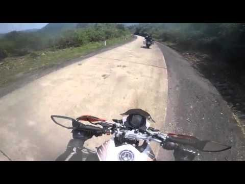 Motorcycle racing in the mountains