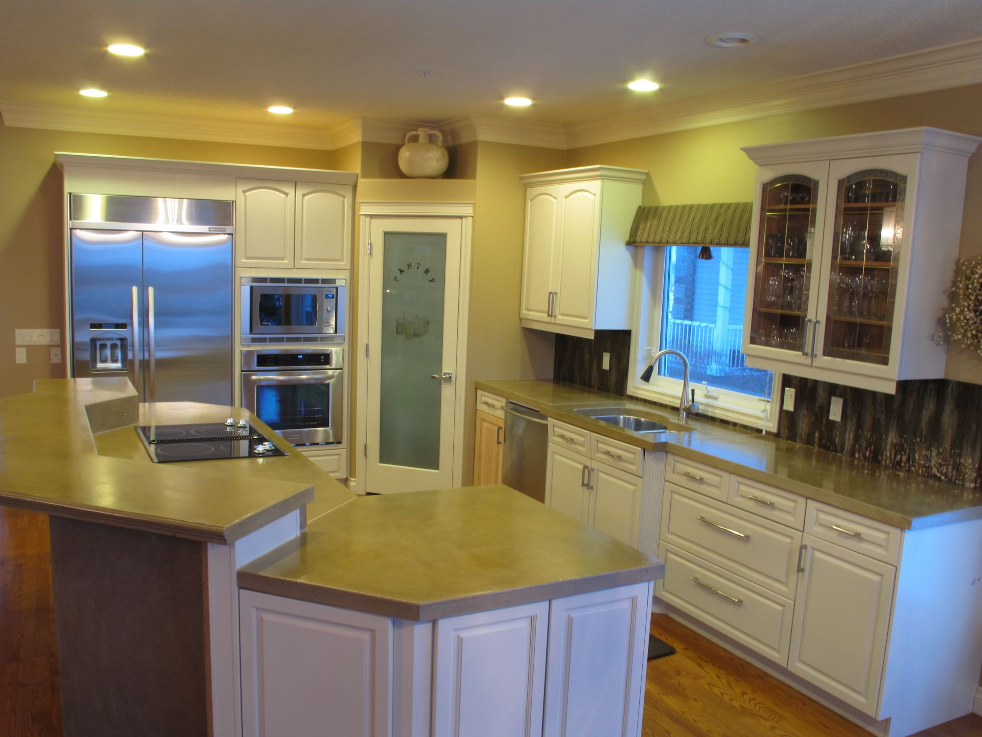 corner pantry with frosted glass door love with images kitchen remodel countertops on kitchen remodel kitchen designs id=70792