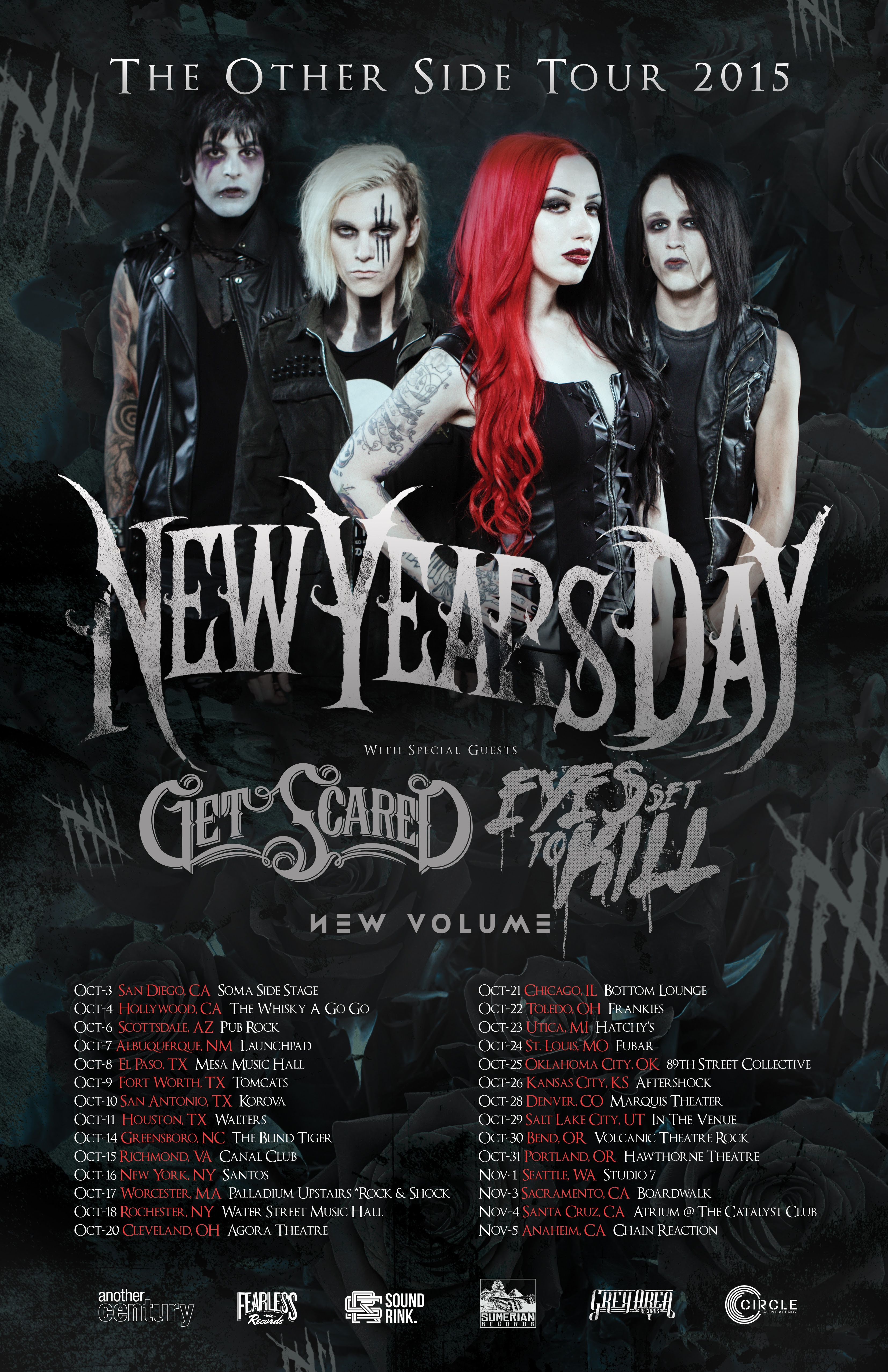 "New Years Day Announces ""The Other Side Tour"" New years"