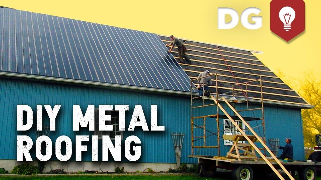 How to install diy metal roofing house or barn metal