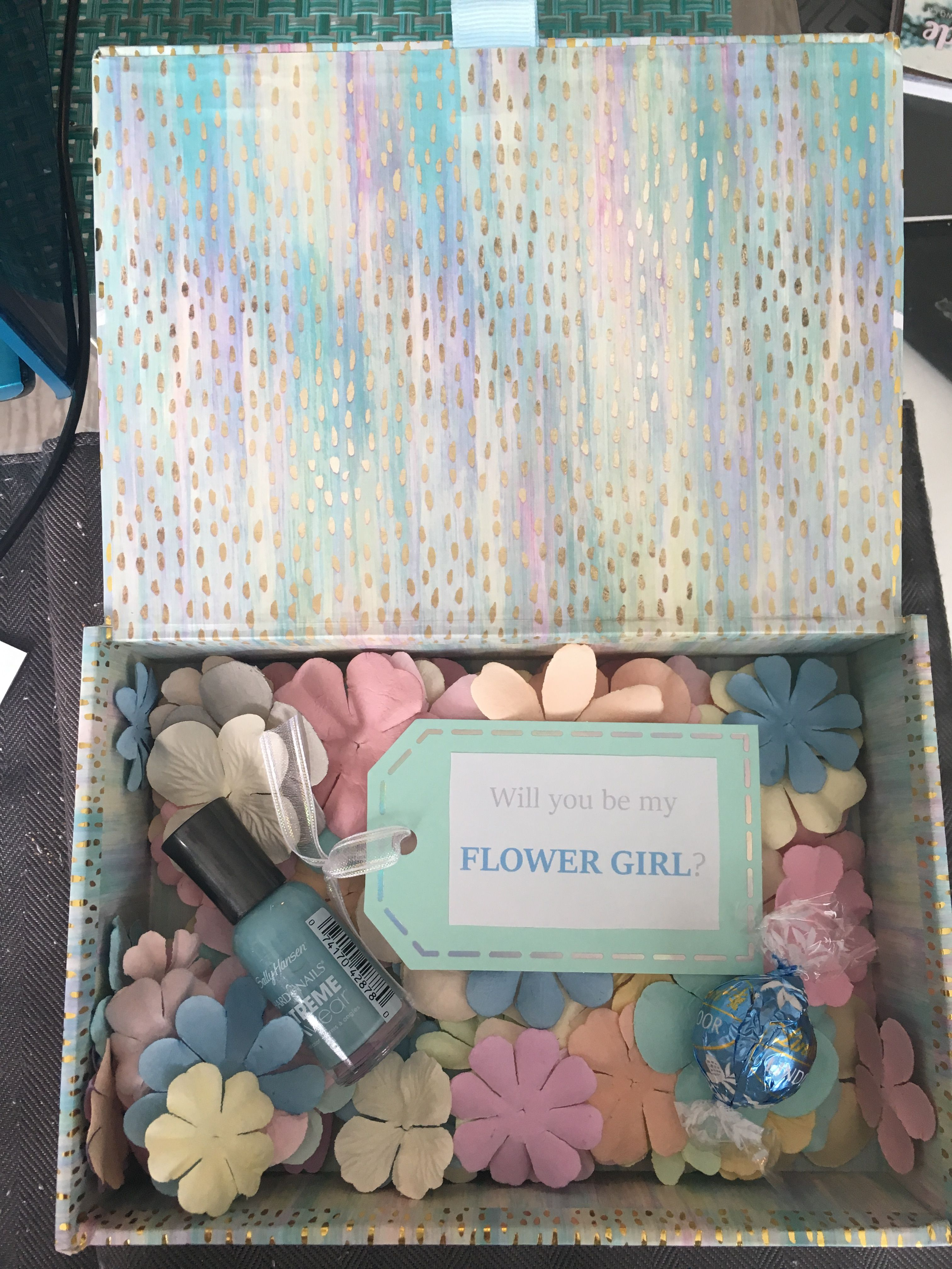 Flower girl proposal box perfect and cute way to ask your