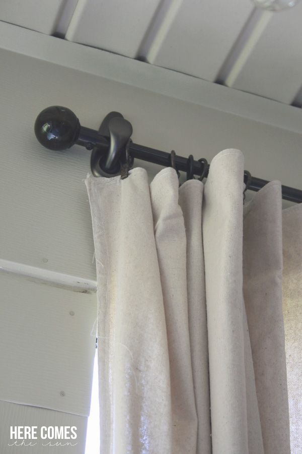 Drop Cloth Porch Curtains  Bamboo panels for deck  Porch curtains Diy curtains Drop cloth