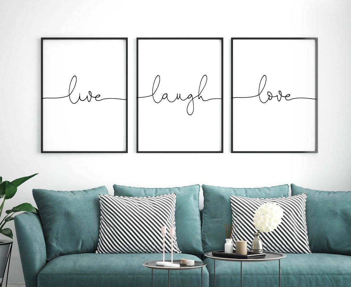 Live Laugh Love Printable Art Set Of 3 Wall Art Live Laugh Etsy Office Wall Art Printable Art Set Bedroom Wall Art