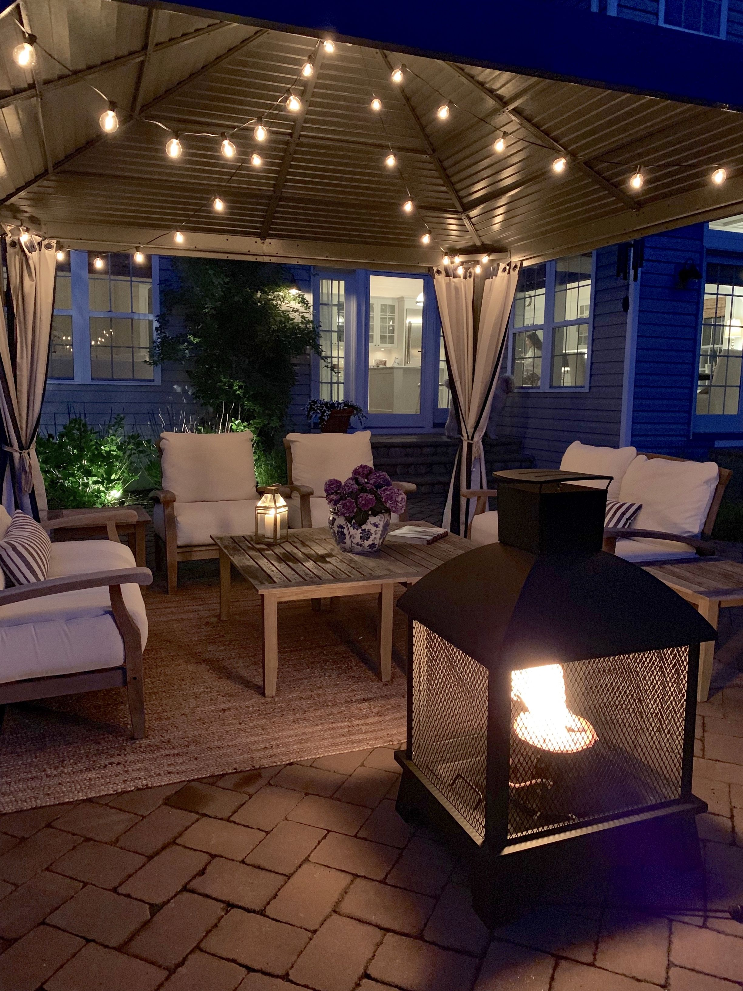 Outdoor Living Room with a SOJAG Gazebo | Gazebo, Outside ... on Ab And Outdoor Living id=60151