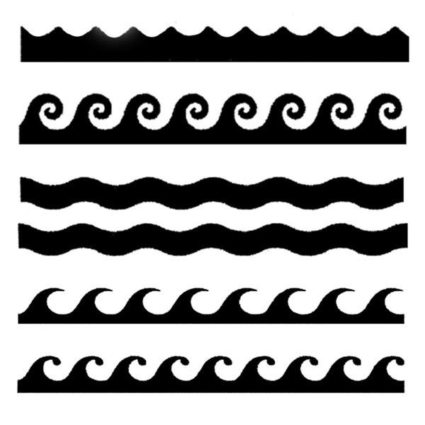 Stencil - Waves of the Ocean - 6\