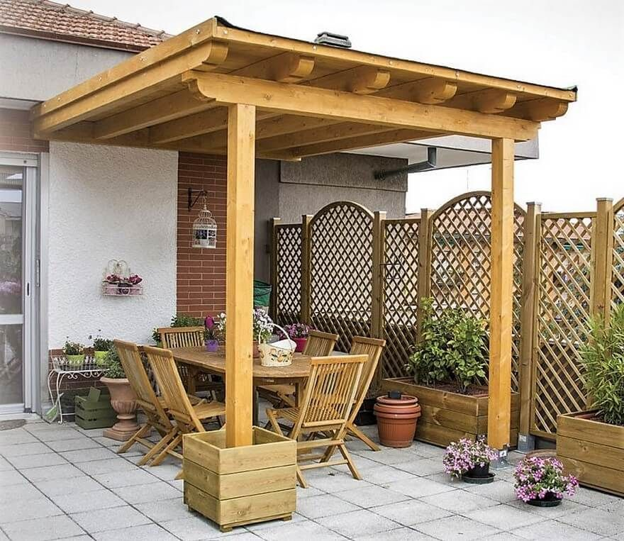 Affordable And Cost Effective Pergola Attached To House Outdoor