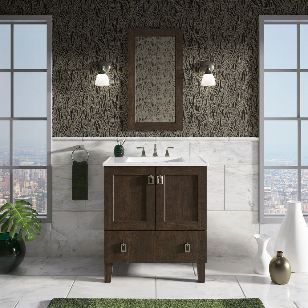 Kohler K 99529 Lg 1we Poplin Terry Walnut Single Basin Bathroom