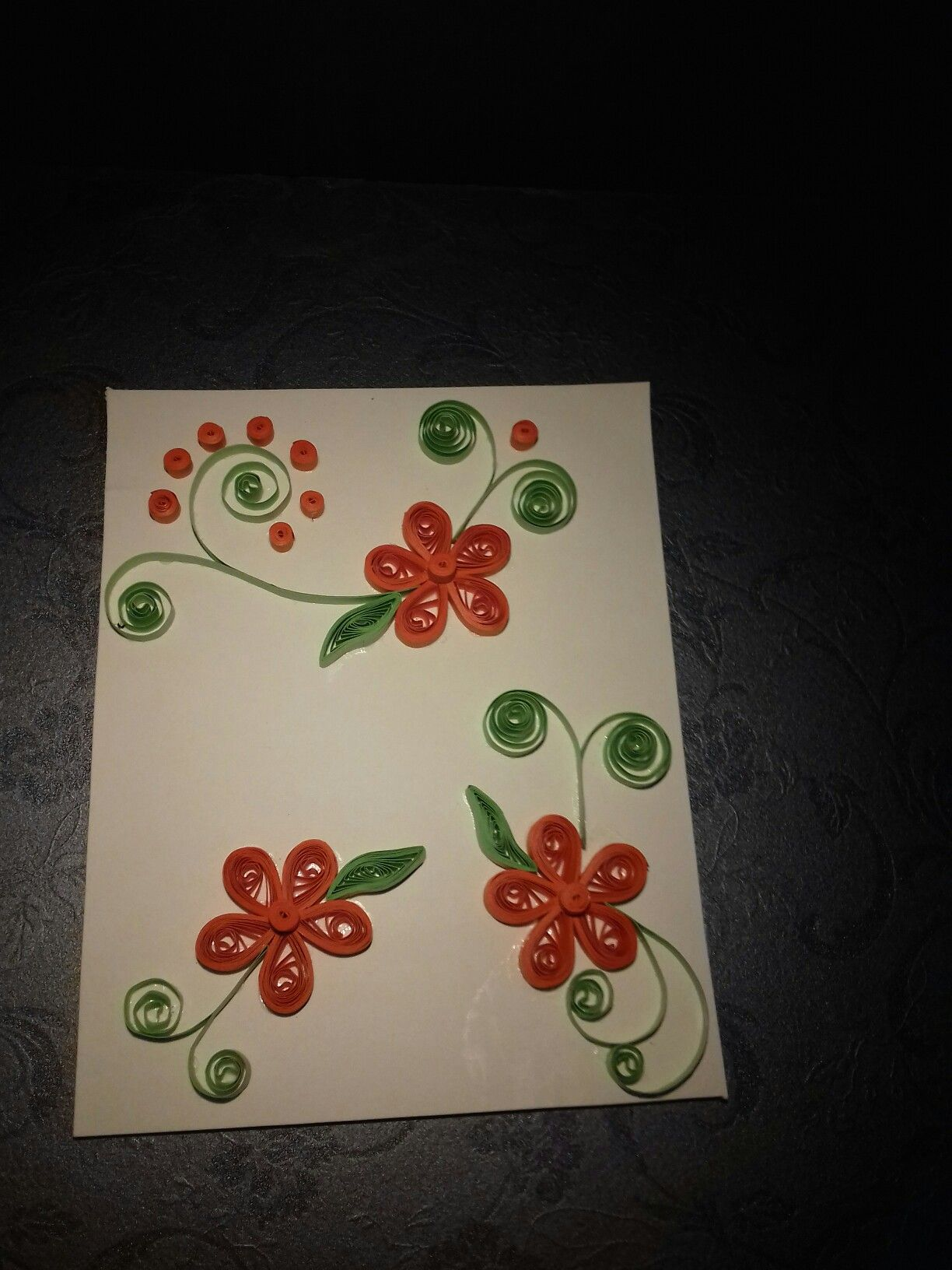 Quilling Greeting Card Himanis Creation Pinterest Quilling