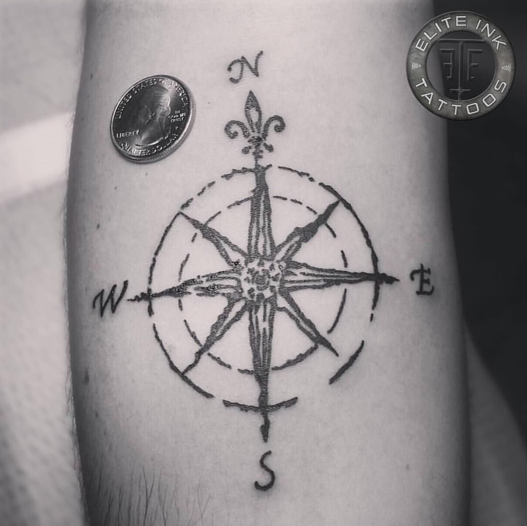 Vintage Compass By Shane Monkee Adkins Elite Ink Tattoos Of Myrtle Beach