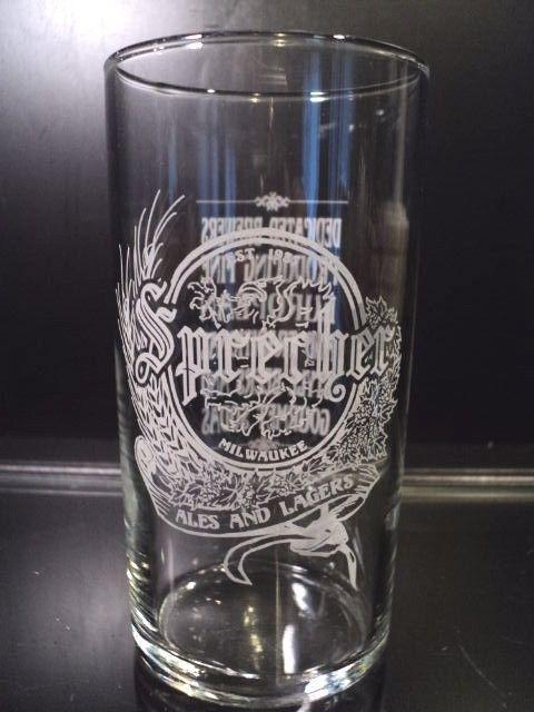 Sprecher Ales Lager beer glass bar glasses tumbler Taste Milwaukee