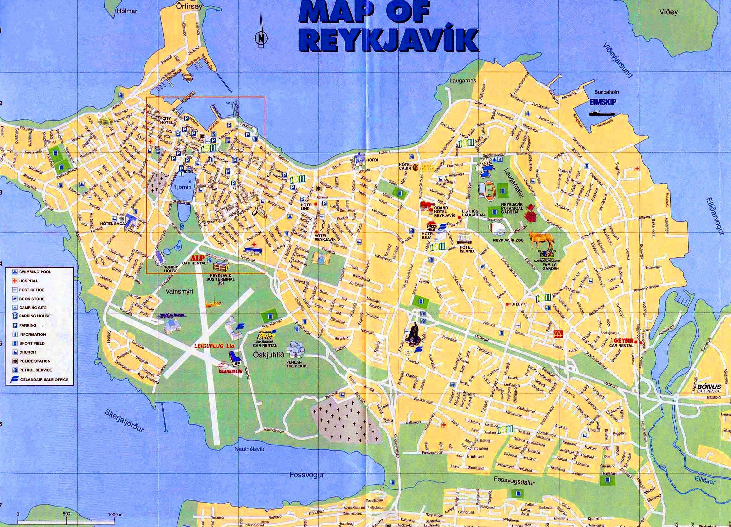 High-resolution map of Reykjavik for print or download | Reykjavik on us virgin islands aerial map, dubai aerial map, antarctic aerial map, guam aerial map, australia aerial map, france aerial map, cayman islands aerial map, aruba aerial map, singapore aerial map, dominican republic aerial map, great wall of china aerial map,