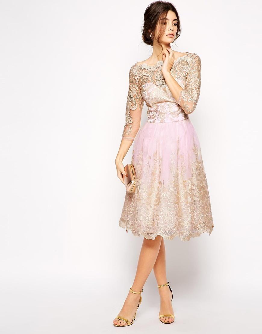 Chi Chi London Chi Chi London Premium Metallic Lace Prom Dress With Bardot Neck At Asos Red Prom Dress Long Prom Dresses 2015 Unique Prom Dresses