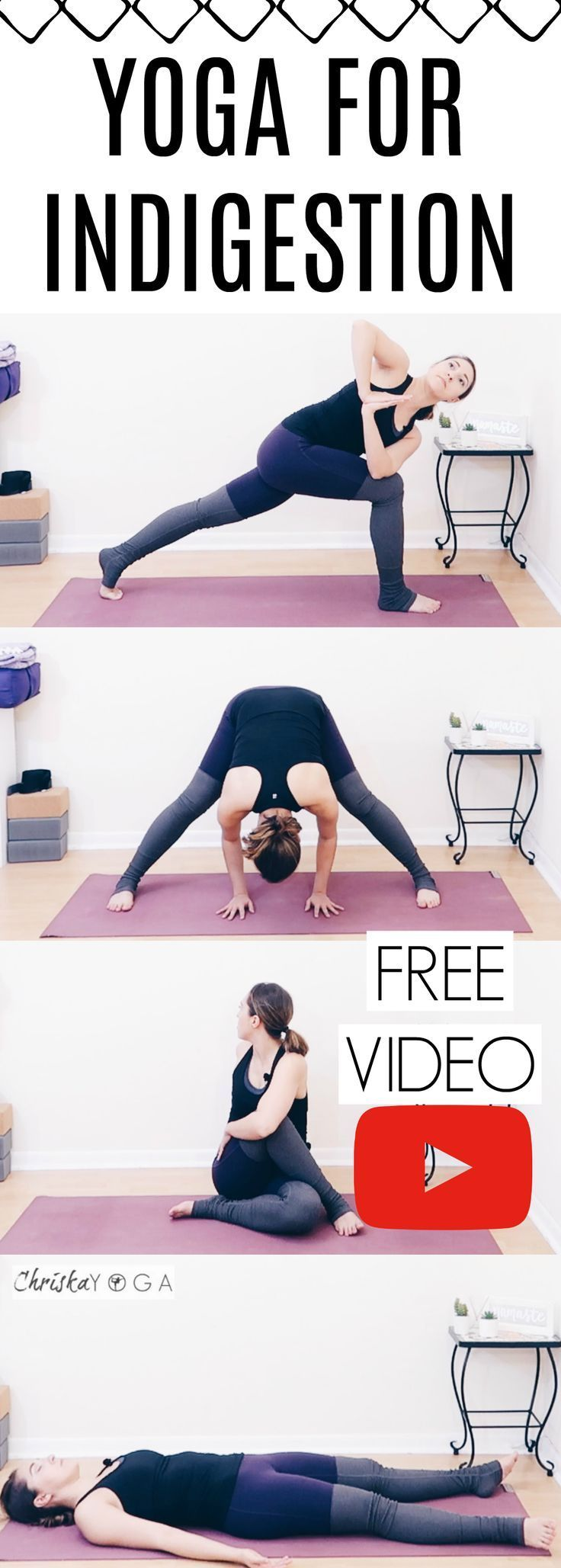 Yoga for Indigestion {20 Min} Yoga for Indigestion {20 Min} | Heartburn, Gas, Bloating, and Upset Stomach Reli... -