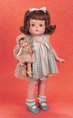 Wigged Patsy with babyete doll.,
