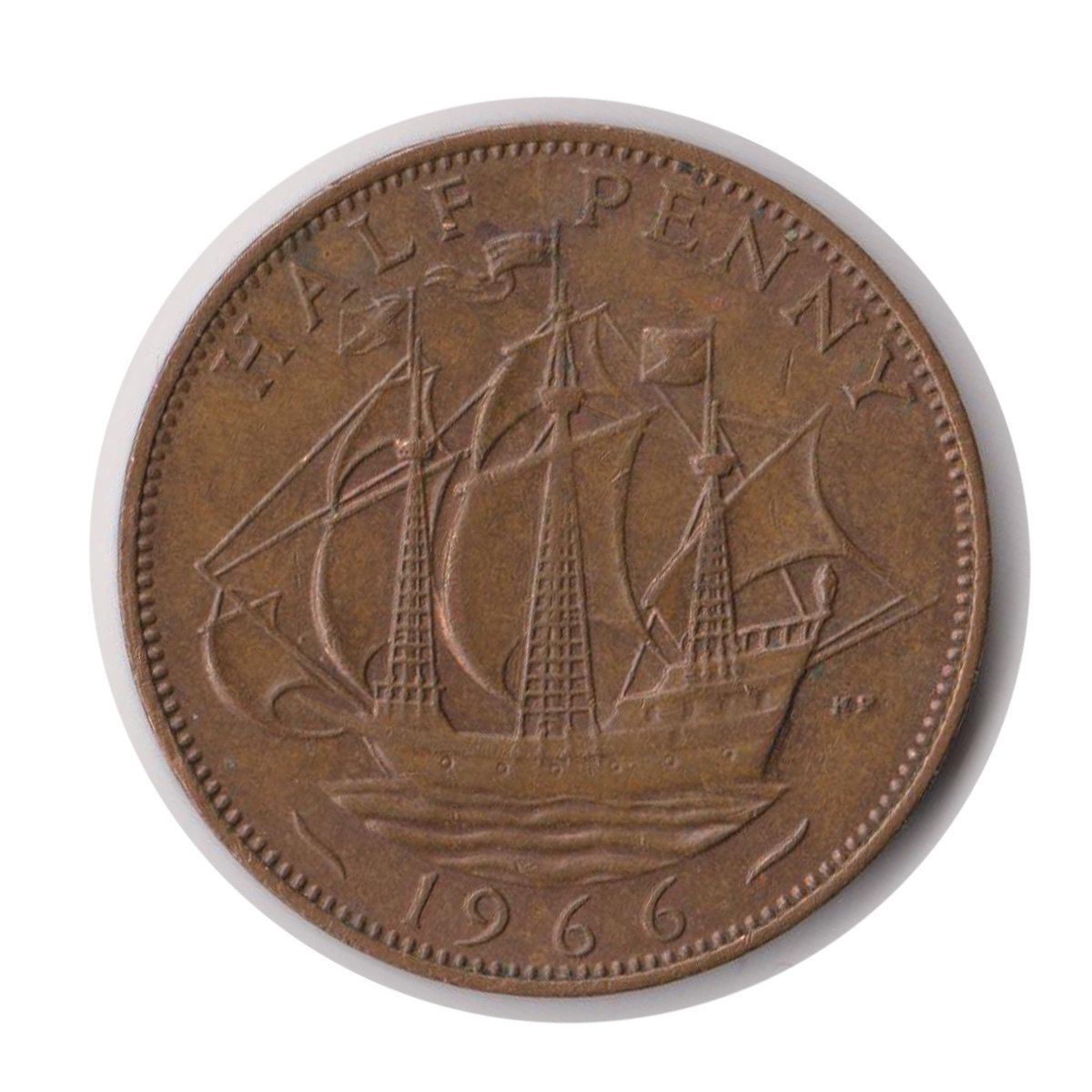 Elizabeth ii half penny 1966 coin codejmc1827 in 2020