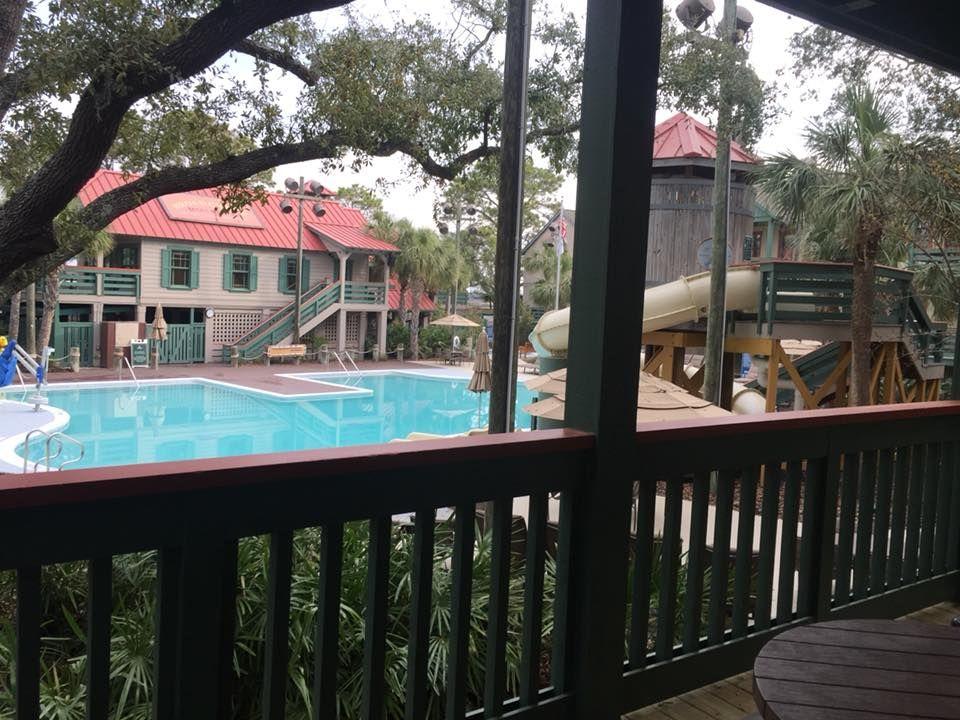 Photo Of Pool From Balcony From Our 2 Bedroom Villa At Disney S Hilton Head Resort Disney Hilton Head Hilton Head Resort