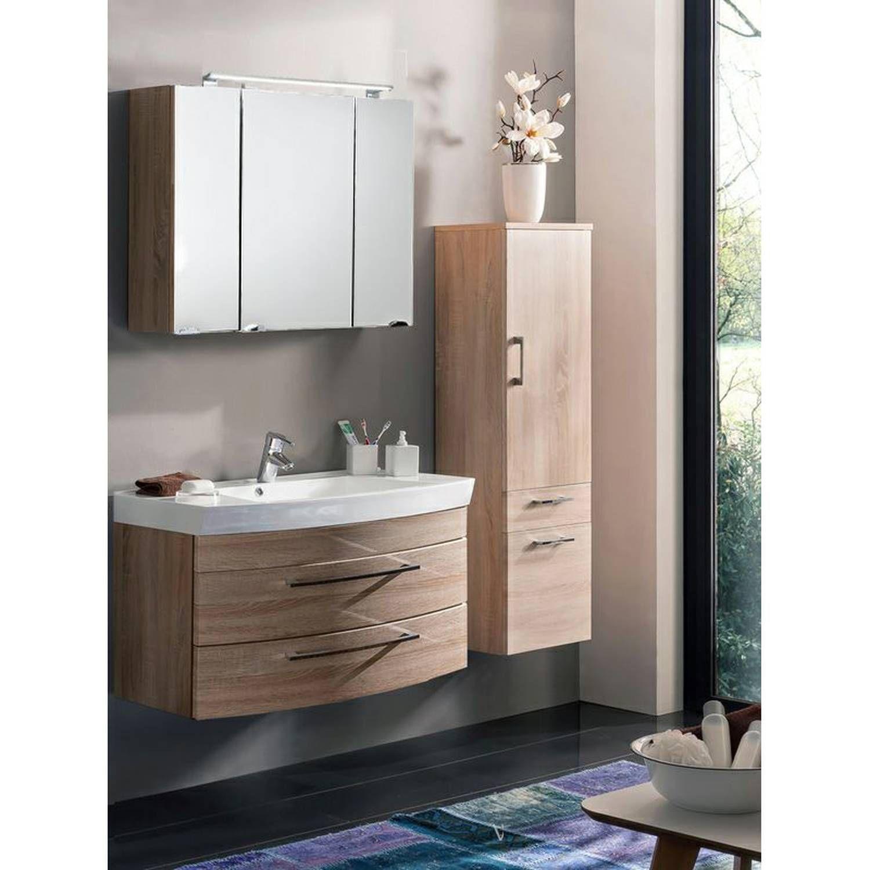 Badezimmer Hochschrank Weiss Hochglanz 50 Cm Breit Badschrank Spiegel Bauhaus Badmobel Set Gunstig Lila B Spiegelschrank Waschtisch Badezimmer Hochschrank