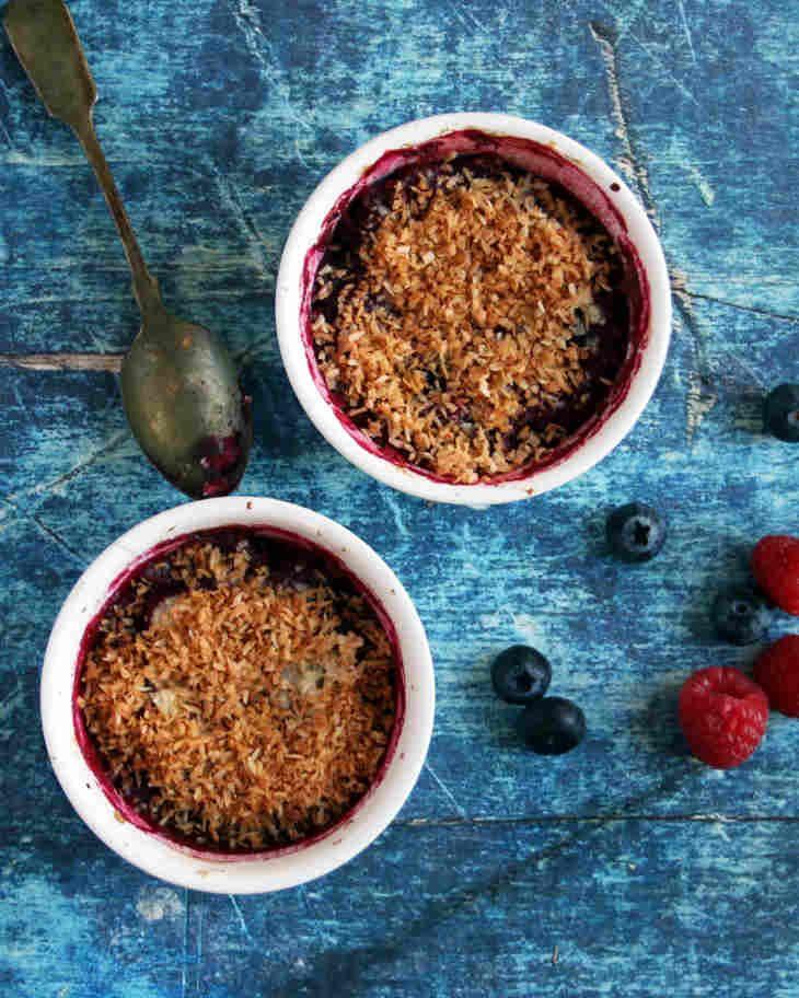 Paleo Mini Mixed Berry Crumbles Recipe