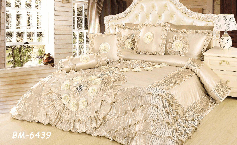 Amazon Com Tache Royal Wedding Chamber In Cream Queen Faux Satin Sateen Comforter Quilt Set 6 Pie Comforter Sets Elegant Comforter Sets Queen Comforter Sets