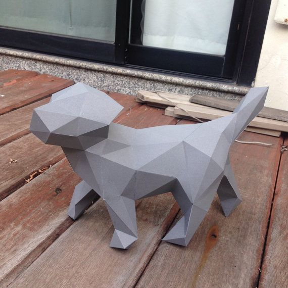 Lowpoly Puppy papercraft model DIY template by PazzleDIY on Etsy